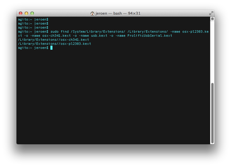 Troubleshooting — Mac USB Serial 1 0 0 documentation