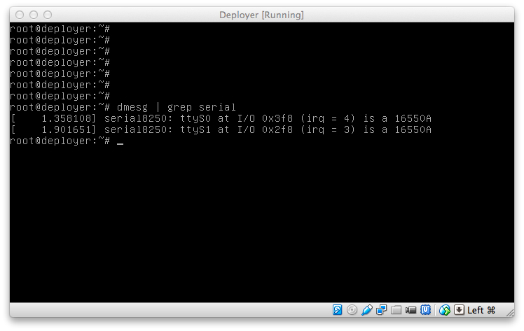 Serial Port Access in VirtualBox Machines running on Mac OS