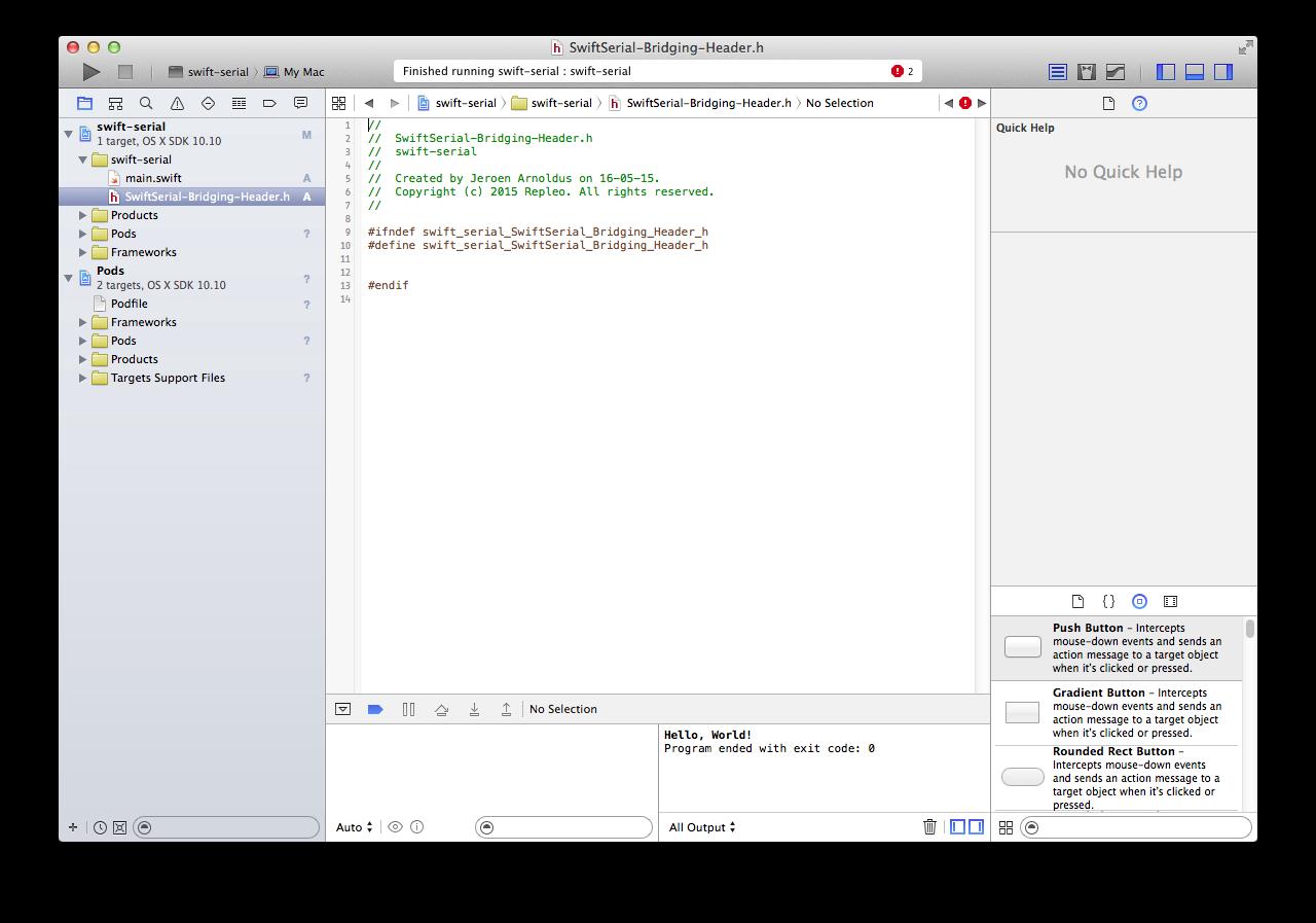 Serial Port Programming in Swift for MacOS — Mac USB Serial
